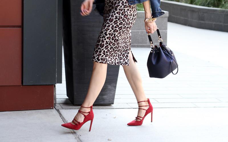 Scarpe rosse con tacchi